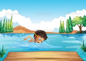 Nadar en contra del rio
