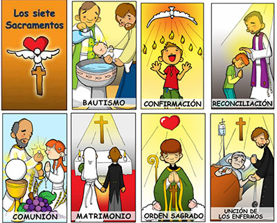 Los siete sacramentos de la iglesia catolica