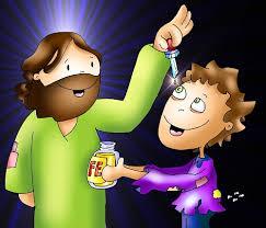 Jesus sana un ciego