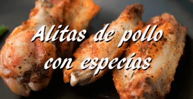 Receta alitas de pollo con especias