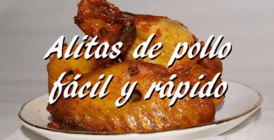 Receta alitas de pollo fácil y rápida