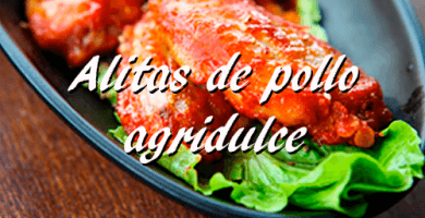 Como preparar alitas de pollo agridulce